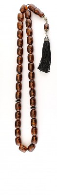Large size, Natural dark honey amber worry beads set.