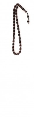 Small size , Oval beads, Natural dark Red amber worry beads set.