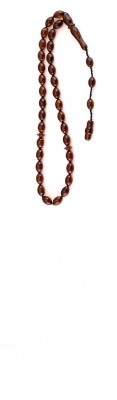 Oval beads, Natural dark Honey / Red amber worry beads set.