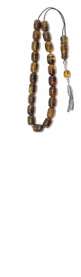 Greek komboloi with 21 beads, special selection of  natural Dominican amber.