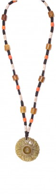 Hand carved Jade , Agate stone and Coral beads necklace.