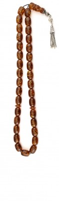 Long and complete, Natural dark honey amber worry beads set.