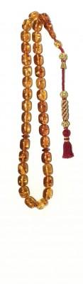 Natural, Honey amber worry beads set.