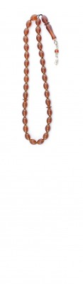 Olive shape, Amber worry beads set, made of 100 % natural amber, pressed.