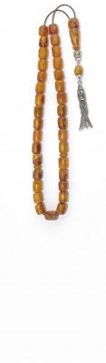 Greek komboloi set, made of dark Yellow natural amber.