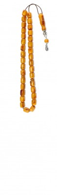 Rough Material look, natural amber worry beads set.