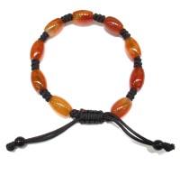 Red Agate semi precious stone knotted bracelet