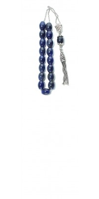 Greek komboloi made of natural Semi Precious stone Blue Sodalite.