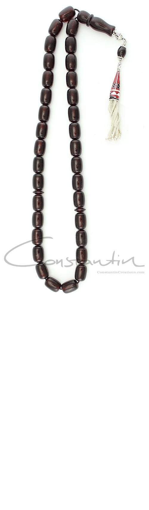 Constantin Creations- natural-red-amber-worry-beads-kırmızı-kehribar-tespih- العنبر أحمر -المسبحة -greek-komboloi-B 190
