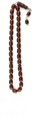 Big size, Natural dark honey amber worry beads set.