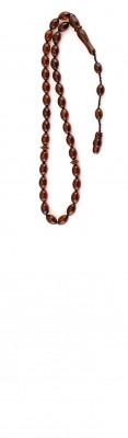 Oval beads, Natural dark Honey / Red amber worry beads set.