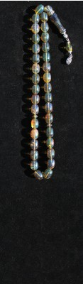 Collectible Semi transparent , Blue Amber, worry beads set.