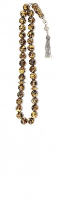 Mosaic amber,  Worry beads set, made of selected natural amber small pieces.