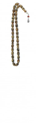 Multicolor Mosaic amber worry beads set, made of natural, small amber pieces.