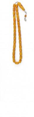 Worry beads set, made of dark Yellow natural amber.