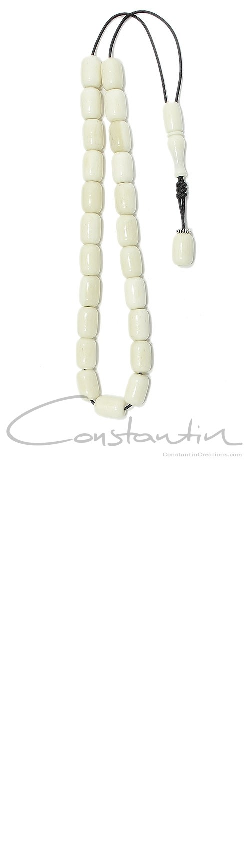 Pocket size, worry beads set made of natural Camel bone and silver.