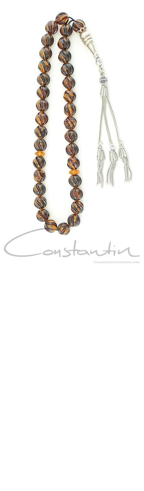 Constantin Creations- komboloi-multicolor-natural-amber-worry-beads-komboloi-kehribar-tesbih-greek-komboloi-مسبحة-كهرمان-العنبر-المسبحة-M273