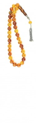 Premium natural amber set with a unique color combination.