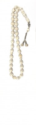 Antique Ivory, with silver inlay, worry beads