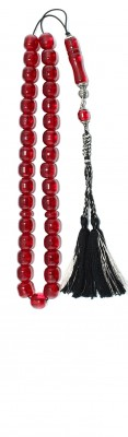 Medium size, Vintage transparent Red Faturan, worry beads set.