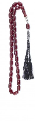Vintage, Dark Red Faturan worry beads.