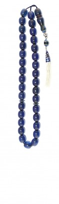 Collectable Transparent, Blue Faturan worry beads set.