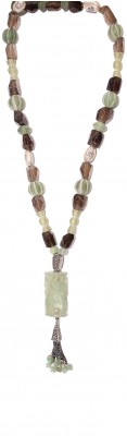 Unique, multicolor necklace with vintage stone components.