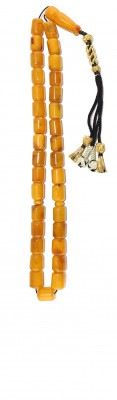 Traditional style, Worry beads set, made of dark Yellow natural amber.