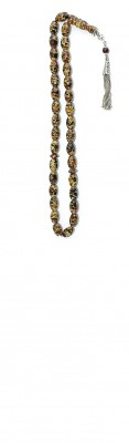 Handy size, Multicolor Mosaic amber worry beads set.