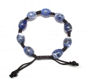Sodalite semi precious stone knotted bracelet
