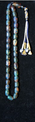 Rare combination of Blue, Green and Honey color variations made of Dominican Blue Amber.