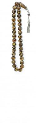 Mosaic amber, Worry beads set, made of selected natural amber.