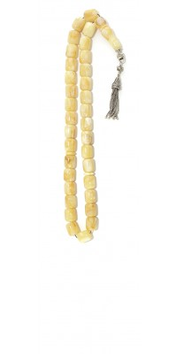 Yellow, Amber worry beads set, made of 100 % natural amber, pressed.