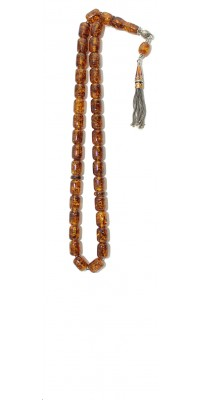 Honey color, Amber worry beads set, made of 100 % natural amber, pressed.