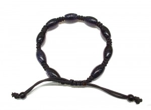 Dark blue goldstone knotted bracelet